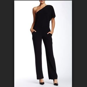 Laundry Black One Shoulder / Off Shoulder Jumpsuit